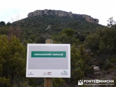 Senderismo Guadalajara - Monumento Natural Tetas de Viana. viajes puente pilar